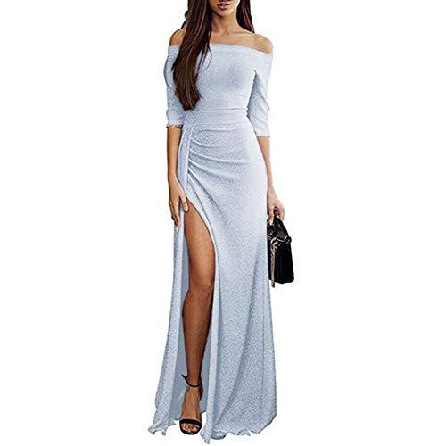 b68677c8605b Weant Abiti Lunghi Donna Eleganti Vintage Estivi Vestiti Casual Donna -  Maxi Abito Abiti Donna Formale