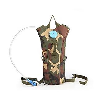 Aogolouk 3 Litre Rucksack Hiking water bag camelback nylon Military camouflage hydration backpack (Army Camouflage)