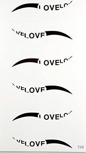GGSELL Cheval dernier roi nouvelle conception étanche temporaire YEUX Autocollant de tatouage LOVER LETTRE noir eyeliner
