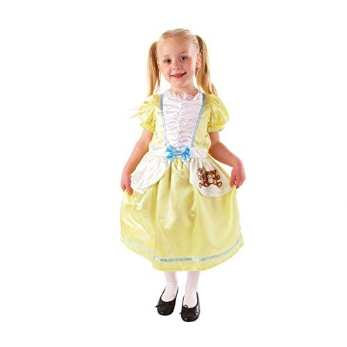 Goldlöckchen Kostüm Kinder Gr. 104 (Kinder Kostüm Goldlöckchen)