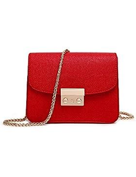 Saint Kaiko Mini Umhängetaschen Damen PU Leder Schultertaschen Klein Handtaschen zum Einkaufen Reise Ins Büro...