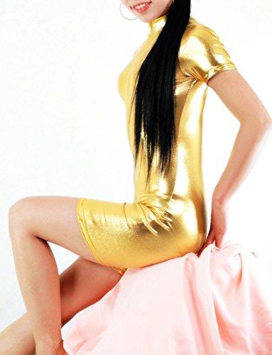 Goldene Kleber Strumpfhosen/Bodybuilding Fitness-Studio-Outfit/Tanzkostüme S