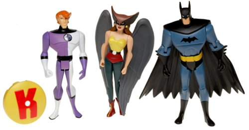 JLA - EPISODE 458 - Justice League Unlimited - 3-Pack - Batman + Hawkgirl + Elongated Man