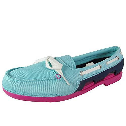 Crocs Women's Beach Line Hybrid Boat Shoe (Womens Beach Line Boat Shoe)