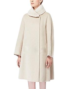 WanYang Elegante Capa De Chal Color Sólido De Mujer Abrigo Cálido Chaqueta De Gran Tamaño Para Mujeres