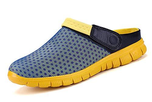 Sandalias de Playa Hombre,Zuecos de Sanitarios Zapatillas Ligeros Respirable Zapatos Verano,Amarillo,41 EU=42 CN