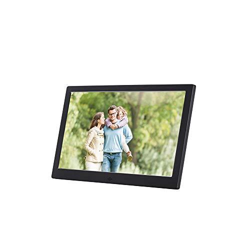 T-XYD 12 Zoll Metall Digitale Foto-Frame-Video-Werbemaschine HD elektronische Regal LCD Werbealbum,Schwarz -