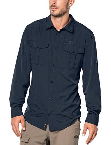 Jack Wolfskin Herren Atacama ROLL-UP Hemd, Night Blue, M