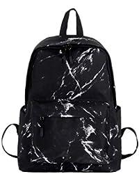 e761b665fb22a JUND Frauentasche Mode Wild Rucksack Frauen Marmor-Muster Schule Schultasche  Nylon Wasserdicht Reise…