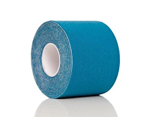 Kinesiologie Tape PREMIUM Original Medi Tape, Sport Physio Tape, Akutape, Medizinische Tapes, Kinesiologietape, Meditape Blau, ISO zertifizierte Markenqualität! 5cm Breite x4.5m, elastisches Klebeband