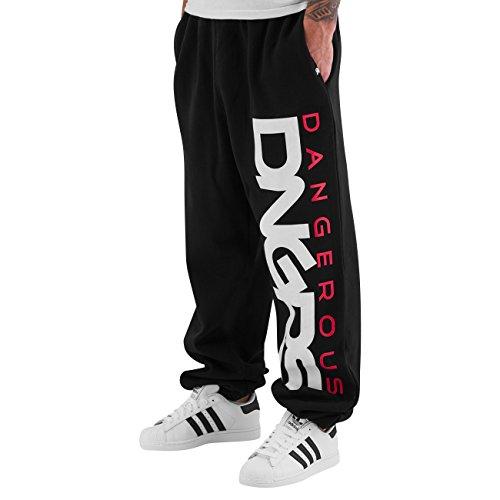 Dangerous DNGRS Classic Sweat Pants Black/Red Herren Jogginghose S (Schwarz In Classic Cami)