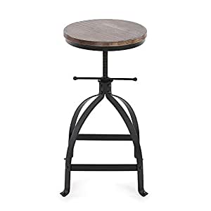 ikayaa tabouret de cuisine salle manger chaise tabouret tabouret de bar hauteur r glable style. Black Bedroom Furniture Sets. Home Design Ideas