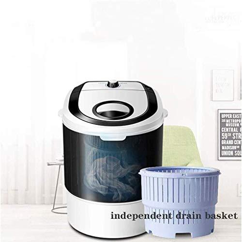 Yuzhonghua Lavadora bebé Cabrito, Calcetines Lavadora de Ropa Interior, Las Mini lavadoras semiautomáticas translúcidos, de pequeña Capacidad 5.5 Libras (Color : Black)