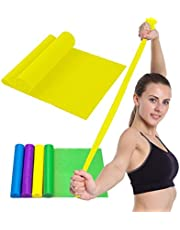 PROSPO Latex Free Resistance Exercise Bands/ Your Home Gym & Fitness Kit for -Strength Training, Physical Therapy, Yoga, Pilates, Chair Workouts/ Body Toning/ Weight Loss/ Perfect Figure/ Stretching, Strength Training and Physical Therapy (Men / Ladies/ Youngsters/ Seniors)
