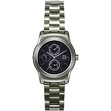 22mm de Metal de acero inoxidable reloj correa de la banda + herramienta para el LG Watch Urbane W150 Plata