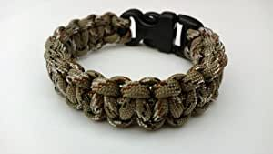 20.32 cm, Desert Camo Cobra Motiv Paracord 550 Armband Survival/Wristband. handgefertigt in Norfolk. K U.