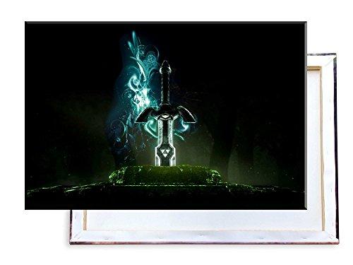 Unified Distribution Legend of Zelda Schwert - 100x70 cm - Bilder & Kunstdrucke fertig auf Leinwand aufgespannt und in erstklassiger Druckqualität