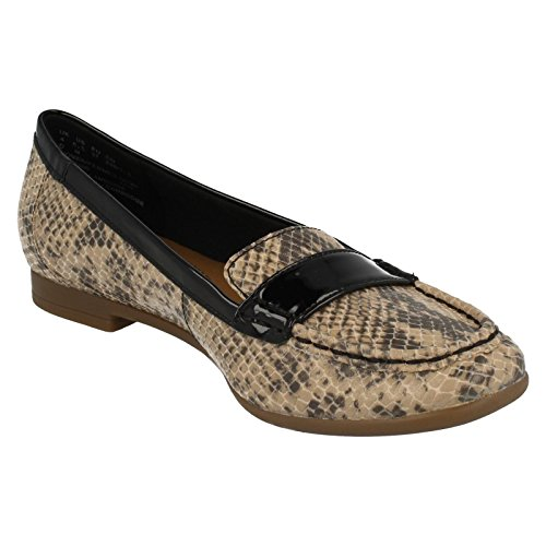 Clarks Damen Smart Clarks Atomic Lady Synthetik Schuhe in Natural Combi