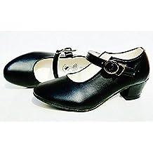 Zapatos de baile flamenco, para niña, (negro), 30 EU