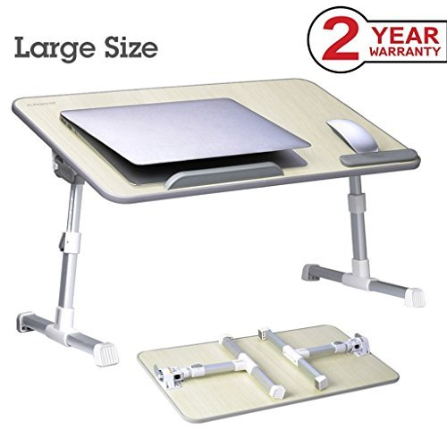 Bett-tabletts (Avantree Verstellbarer Laptop Tisch für Bett, Tragbarer Betttisch, Bett Tablett Frühstück, Notebook Ständer Sofa Tisch (Honeydew) - Minitable L [2 Jahre Garantie])