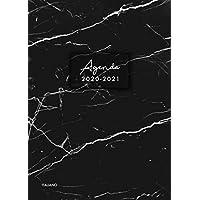 Agenda 2020-2021 italiano: Agenda settimanale 2020 2021 18 mesi,  Agenda giornaliera metà anno, luglio 2020 – dicembre 2021, modello di marmo nero PDF Libri