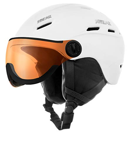 Relax Skihelm Prevail mit Visier | Snowboardhelm | Skihelmet | Race-Helm für Damen und Herren...