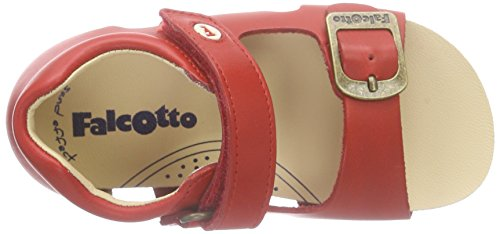 Naturino Falcotto 1406, Sandales ouvertes mixte enfant Rouge - Rot (VIT.CERATO SPAZZ. ROSSO)