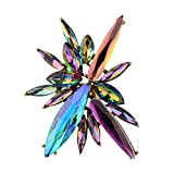 Daawqee Donna Anelli, Bohemian Multicolor Hyperbole Statement Rings for Women Party Festival Gift Geometric Fashion Adjustable Rings Jewelry Multicolor Resizable