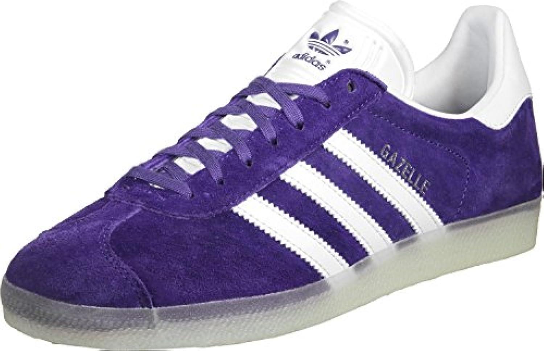 adidas gazelle faible adultes unisexes & eacute; - taille: 9,5 royaume - eacute; uni haut baskets violet f3fffd