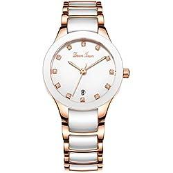 Fashion waterproof watch/Lady ceramic watch/Simple quartz watch-A