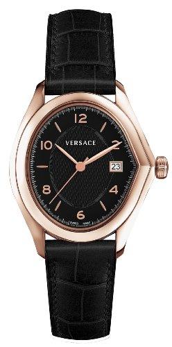 Versace - 20Q80D009 S009 - Montre Homme - Quartz Analogique - Bracelet Cuir Noir