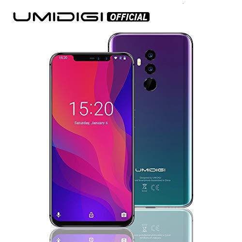 Umidigi Z2, Android 8.1 Oreo Dual Sim Smartphone ohne Vertrag 6GB + 64GB(265GB erweiterbar), Globale Version, 16MP+8MP Quad Kameras, 6.2 Zoll 19:9 FHD+ Full Screen, 1008*2246 hohe Auflösung -Twilight