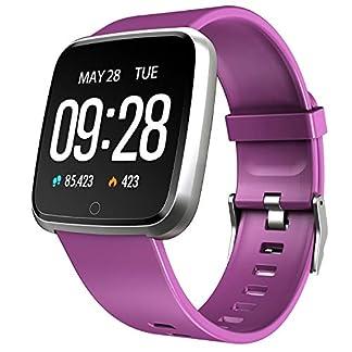 Semaco Smartwatch con Pulsómetro,Impermeable IP67 Reloj Inteligente con Cronómetro, Monitor de sueño,Podómetro,Calendario,Control Remoto de música,Pulsera Actividad para Android y iOS