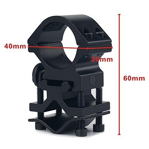 litemax 2,5cm Zoll kombiniert Tactical Jagd Taschenlampe Heavy Duty Zielfernrohr Mount Ringe für Weaver Picatinny Schiene mit Fass Adapter, Schwarz (Heavy-duty-fass)