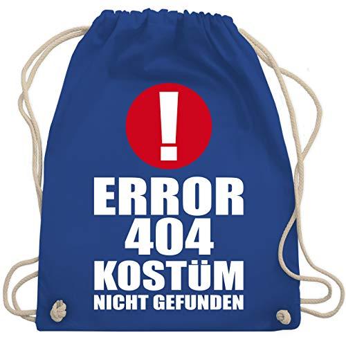Nicht Gefunden Kostüm - Karneval & Fasching - ERROR 404 Kostüm nicht gefunden - Unisize - Royalblau - WM110 - Turnbeutel & Gym Bag