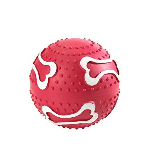 HUNTER BALL Hundespielzeug, Ballspiele, apportieren, werfen, zahnfreundlich, 10 cm, rot