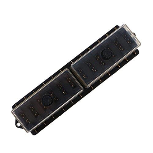Preisvergleich Produktbild MagiDeal Dc 12-32v ATC ATO Sicherungskasten Fuse Box für Auto Kfz,  25Amp / Weg,  4-12-Fach - 12-fach