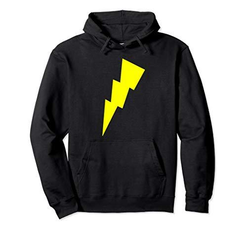 Bolt Licht Kostüm - Lustiges Cool Gelb Blitz Bolt Zeichen Lichter Race Running Pullover Hoodie