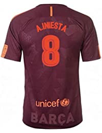 2017-18 Barcelona Nike Third Football Soccer T-Shirt Camiseta (Andres Iniesta 8