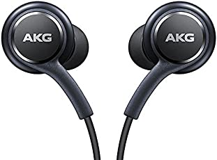 Offizielles Samsung Galaxy S8/S8+ Handsfree Kopfhörer/Ohrhörer–Tuned by AKG/Harman Kardon–Schwarz (eo-ig955bsegww)–Bulk Verpackt, frustrationsfreie Verpackung