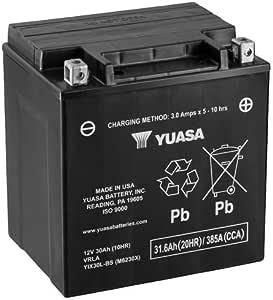 Batterie Yuasa Yix30l Bs Wc Agm Geschlossen 12v 30ah Cca 400a 166x126x175mm Für Harley Davidson Flhti 1450 Electra Glide Standard Baujahr 2007 Auto