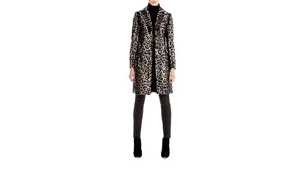 c2d0d1103c78 Karen Millen leopard Animal Print Pony Faux Fur Winter Coat (Women's UK  Size 10): Amazon.co.uk: Clothing