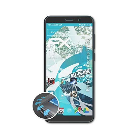 atFolix Schutzfolie passend für Archos Access 57 4G Folie, ultraklare & Flexible FX Bildschirmschutzfolie (3X)