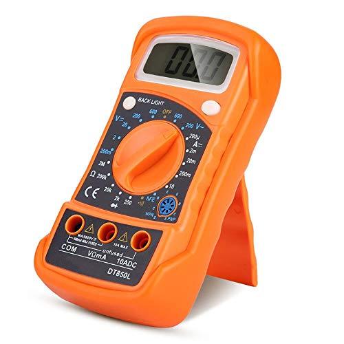 Qii lu LCD Auto DC/AC Multimetro, Multimetro Auto-Ranging palmare, Amp Meter, Voltmetro, Temp, Tester di resistenza per automobile/elettrodomestico -