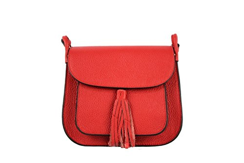 Tracolla borsa in Vera Pelle donna made in italy zeta shoes MainApps Rosso