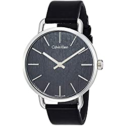 Casual K7B211C1 Calvin Klein - Reloj analógico de Cuarzo para Hombre, Color Negro
