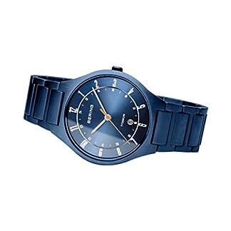 BERING Reloj Analógico para Hombre de Cuarzo con Correa en Titanio 11739-797
