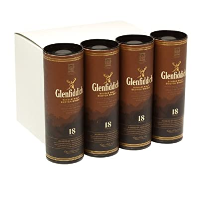 Glenfiddich 18 year old Single Malt Scotch Whisky 5cl Miniature - 12 Pack