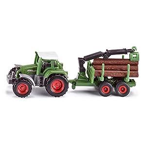 SIKU 1645  - Tractor con Remolque Forestal (Colores Surtidos)