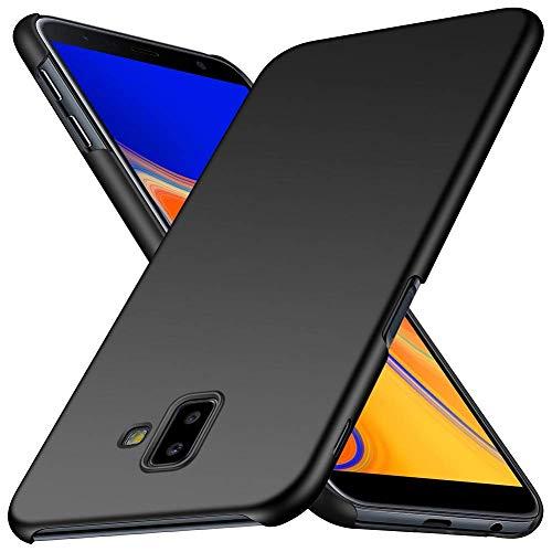 Yoowei Cover per Samsung Galaxy S10 Plus in Plastica Rigida, [Ultra Sottile] [Pieno Bordo Protezione] PC Shell Duro Retro Custodia Protettiva Compatibile con Samsung S10+, Tocco Liscio - Nero